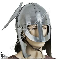 Reenactment Collectibles Medieval Knight Viking Helmet With Wings Halloween Gift