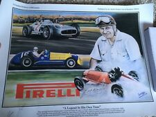 Juan Manuel Fangio Signed Print Genuine Autograph F1 World Champion Grand Prix