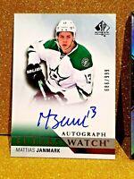 2015-16 MATTIAS JANMARK  SP Authentic Future Watch Auto /999 Rookie Autograph