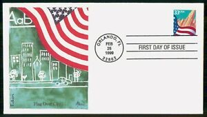 Mayfairstamps US FDC 1999 FLAG OVER CITY COVER wwi69157