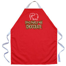 Fun Cooking Aprons Gifts Kids Children Boys Girls Don't Forget to Add Chocolate
