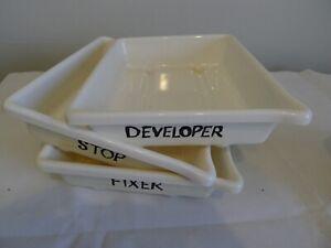 "3 x Print developing trays 10 x 8 "" for 8 x 6"" prints"