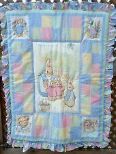 Vintage Quiltex Beatrix Potter Peter Rabbit Baby Crib Comforter Quilt Nursery