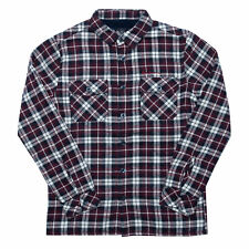 Junior Boys Ben Sherman Borg Lined Brushed Check Shirt in Navy Red