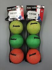 Franklin Sports Lacrosse Balls Soft Rubber Lacrosse Balls for Kids 6 balls total