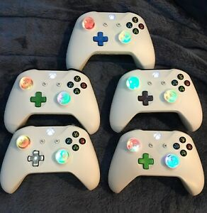 LED MOD White BLUETOOTH Xbox One Controller Halo COD Fallout Doom Apex