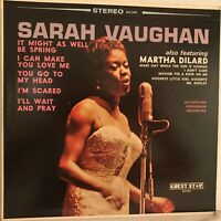 SARAH    VAUGHAN         LP     ALSO  FEATURING MARTHA  DILARD