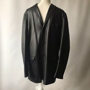 Vintage KENZO HOMME Leather Jacket Coat Super Soft Lamb Skin  Mens UK Large