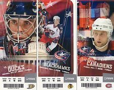 2008 - 2009 - 8TH YEAR - FULL TICKET - COLUMBUS BLUE JACKETS - PICK ONE