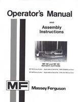 Massey Ferguson MF 58 68 Rotary Cutter Operators Manual