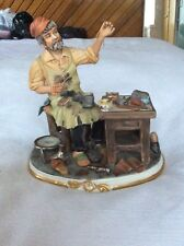 "Vintage Capodimonte Figure "" The Shoemaker"" Very Rare"