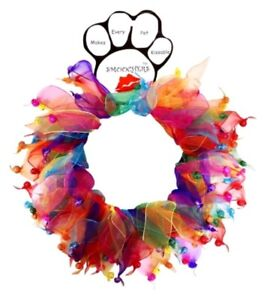 Confetti Bells Pet Smoocher; Extra-Large Fits Neck Size 20 In - 24 In