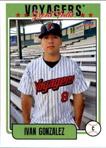 2019 Great Falls Voyagers Choice 10 Ivan Gonzalez Round Rock Texas Baseball Card