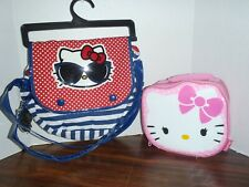 Hello Kitty Messenger Handbag and Lunch Box Set Both New With Tags