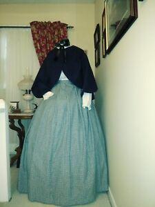 CLEARANCE SAVE 30% Civil War Reenactment SZ24 Navy Cotton Zouave Jacket/ Skirt