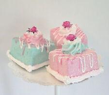 Shabby Cottage Fake Petit Fours, Marie Antoinette Eat More Cake Decor, Props