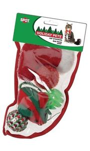 Spot Holiday Pets Cat Stocking 5 Toys Free Shipping