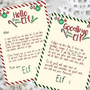 Magic Elf Hello & Goodbye Letters
