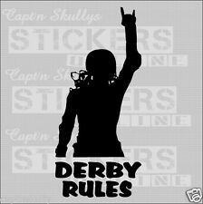 DERBY RULES DECAL 210mm x 95mm Capt'n Skullys Stickers Online MPN 2026 M/PURPOSE