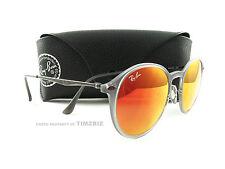 New Ray-Ban Sunglasses RB4224 Gray Round Light Ray Titanium 650/6Q Authentic