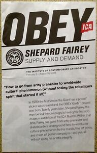 ORIGINAL SUPPLY AND DEMAND 2009 SHEPARD FAIREY BOSTON ICA SHOW CATALOG OBEY NEW