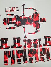 DJI Inspire Matt Red Fluorescent Camouflage, vinyl skin / wrap. UK based