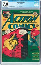 Action Comics #47 CGC 7.0 DC 1942 1st Lex Luthor Cover! WP! Superman! F12 H3 cm