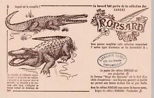 buvard série collection ronsard animaux , n°3. lequel est le crocodile ?