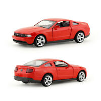 1:43 Ford Mustang GT Sports Car Model Car Diecast Toy Vehicle Pull Back Kids Red
