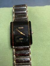 Men's Working Rado Black Dial Rectangular Quartz Watch-BB