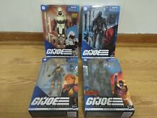 Hasbro GI Joe Classified Snake Eyes, Storm Shadow, Scarlett, Roadblock Lot of 4!