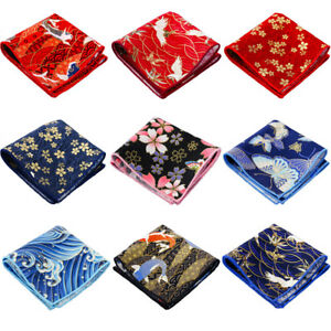 Men's Handkerchief Stylish Floral Pattern Wedding Party Business Pocket Square