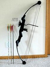 "Vintage Robin Hood Compound Bow Right Hand 55# @ 27"" Three Arrows 28.5"" Long"