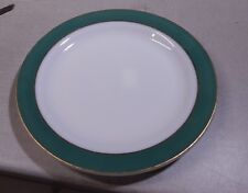 "Vintage Pyrex Glass 12 1/4"" Green Band Platter Chop Plate Large"