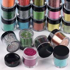 NEW 24 Pcs Nail Art Glitter Powder Dust For UV GEL Acrylic Decoration Tips Set