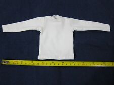 "1/6 Scale Tee Hot White Long Sleeves T-Shirt For 12"" Action Figure Toys"