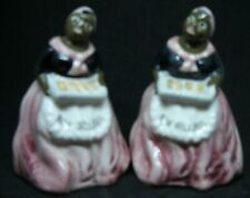 Salt & Pepper Shakers Black Mammy with Cookies New Orleans Souvenir *112