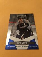 Shea Weber 10-11 Certified Platinum Blue Card 019/250 Nashville Predators