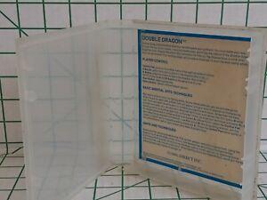 DOUBLE DRAGON Original NES / SNES Clear Clam Shell Rental Case (Nintendo)