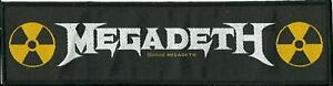 MEGADETH logo 2020 - WOVEN STRIP SEW ON PATCH - official merchandise