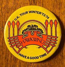 HAWKWIND s/t UK Tour Winter 1973/1974 ORG Concert BUTTON Prog VG+ Vintage BROCK