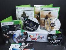 Xbox 360 Game Call of Duty 4 Modern Warfare, Modern Warfare 2, Ghost & Black Ops