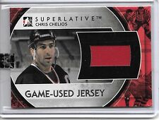 2011-12 ITG CHRIS CHELIOS SUPERLATIVE JERSEY CARD SP #6/6 CHICAGO BLACKHAWKS!!