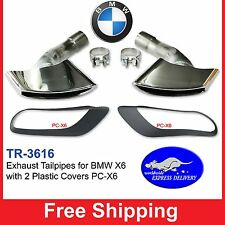 BMW X6 Exhaust Tips Tailpipes  E71 3.0d 3.5d 3.5i 4.0d for 5.0i V8 Style