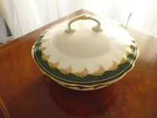 Foley Green & Gold Tureen/Vegetable dish