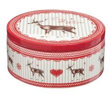 Clayre & Eef Keksdose Dolomit Weihnachten Vorratsdose Dose rot weiß 53645