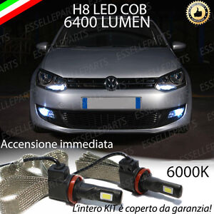 KIT FULL LED VW POLO 6R LAMPADE H8 FENDINEBBIA CANBUS 6000K 6400 LUMEN
