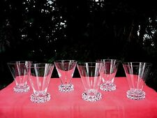SAINT LOUIS DIAMANT 6 WINE CRYSTAL GLASS 6 VERRE A VIN CRISTAL TAILLÉ ART DECO