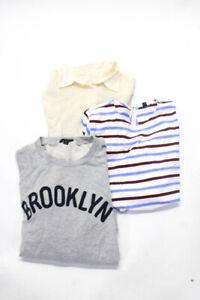 J Crew Womens Sweatshirt Tops Tees Blouses White Size XL 12 Lot 3
