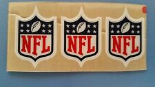 NFL shield football helmet decal lot of 3